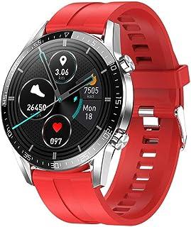 smartwatch inteligentny zegarek Android Men 2020 IP68 smartwatch inteligentny zegarek do Android iOS czerwony silikon