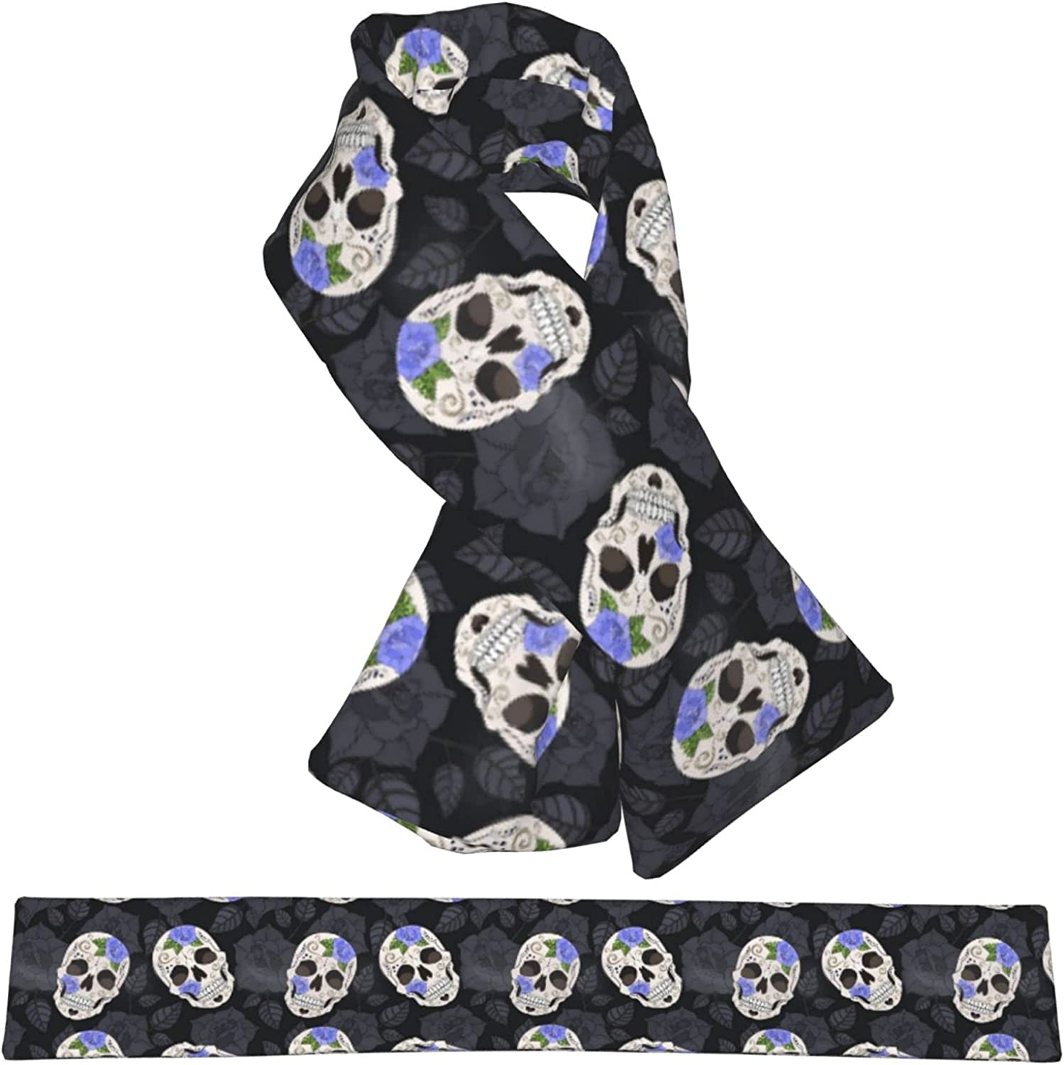 Rose And Sugar Discount mail order Skull Warm Double-Sided Scarf Plush Popular overseas
