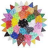 (500 pz 25 Colori) Bottoni Plastica Automatici Colorati Decorativi Chiusura a Pressione per Cucito Creativo Fai da Te Borse