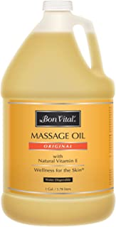 Bon Vital' Original Massage Oil for a Versatile Massage Foundation to Relax Sore Muscles and Repair Dry Skin, Most Requested, Best Massage Oil on Market, Unbeatable Consistency and Quality, 1 Gallon