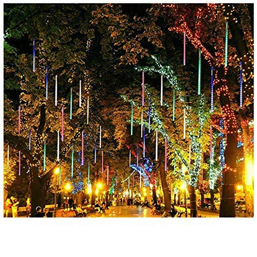 Christmas L E D Meteor Shower Garland Decoration Lights for Holiday Strip Light Outdoor Waterproof Fairy Lights for Home Eave Tree
