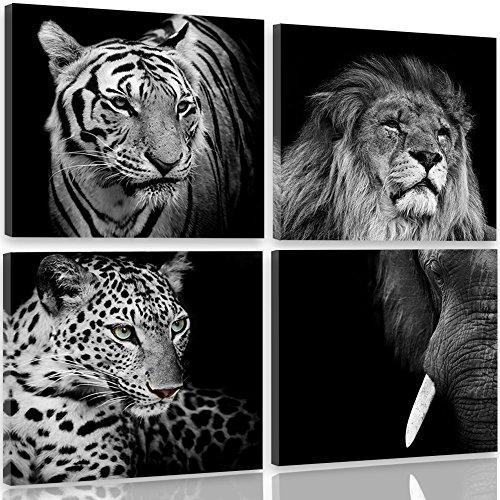 Feeby Frames, Cuadro en lienzo - 4 partes - Cuadro impresión, Cuadro...