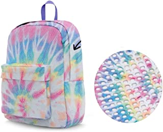Top Trenz Multi Tie Dye Mesh Backpack With Adjustable Straps