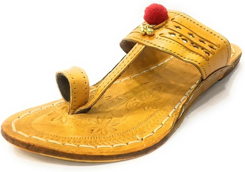 Step n Style Ladies Kolhapuri Chappal Ethnic Sandals Beaded Mojari Flat Tribal Jutti