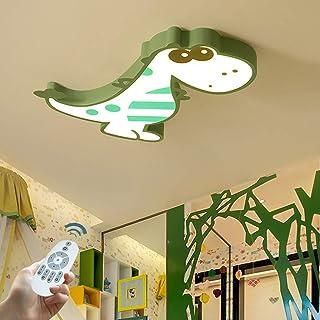 LED Dinosaurio Luz Techo Dormitorio Plafón Moderno Interior Decoración Lámpara Suspensión Kindergarten Araña Luces Regulable Iluminación Colgante Sala Estar Dormitorio Kinderzimmer,48cm/green