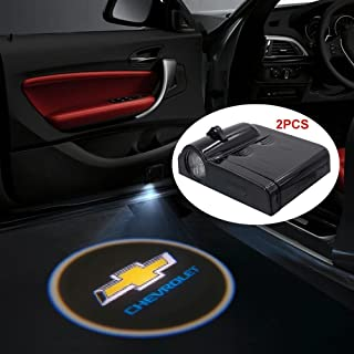 iNewcow Wireless Car Door LED Projector Light Courtesy Welcome Logo Light Shadow Ghost Laser Lamp For Chevy Chevrolet