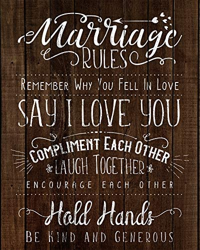 Marriage Rules Wall Decor Art Print 8x10 unframed print great for a bedroom living room or a product image