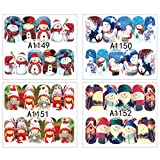 Beaupretty 12 Hojas Pegatinas de Uñas de Navidad...