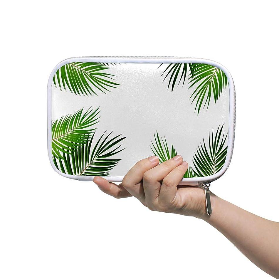 耕す解決ページZHIMI 化粧ポーチ メイクポーチ レディース コンパクト 柔らかい おしゃれ 化粧品収納バッグ コスメケース 葉の柄 機能的 防水 軽量 小物入れ 出張 海外旅行グッズ パスポートケースとしても適用