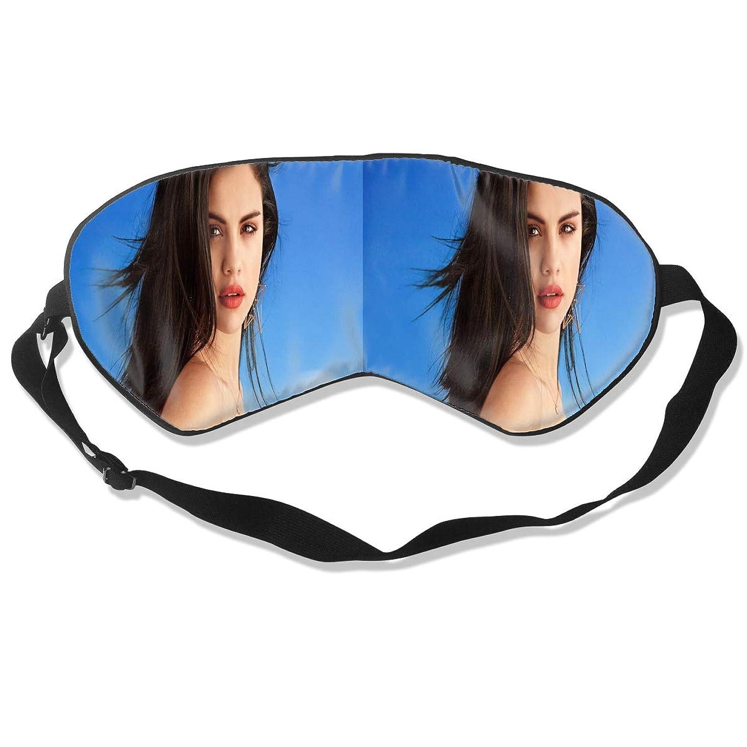 普及人与えるアイマスク Selena Gomez 睡眠対策、いびき軽減、眠りと目の疲れ、スーパーソフト、超滑らかな絹のような通気性