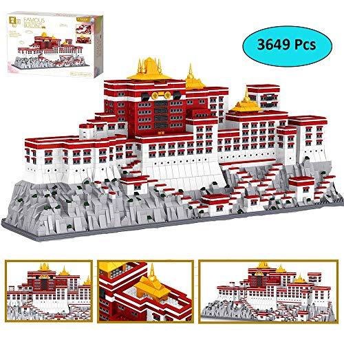 LODIY Bausteine Architektur Potala Palast Modell - 3649 Teile Gebäude Bausatz - Klemmbausteine Modellbau Kompatibel mit Lego
