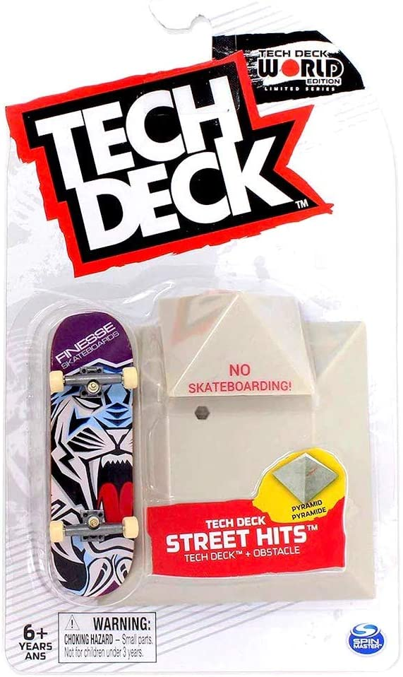 TECH DECK Street Hits World Edition Limited Series Santa Cruz Skateboards Spill Dot Complete Fingerboard and Mini Fun Box Obstacle