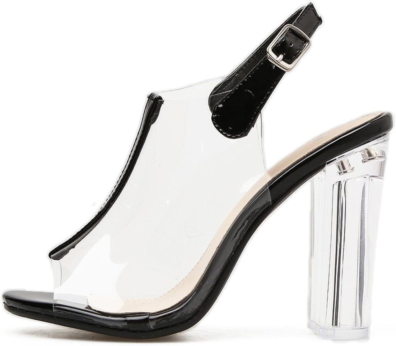 KRSCBF Women Sandals Slingback Summer shoes Thick High Heels Gladiator Sandals