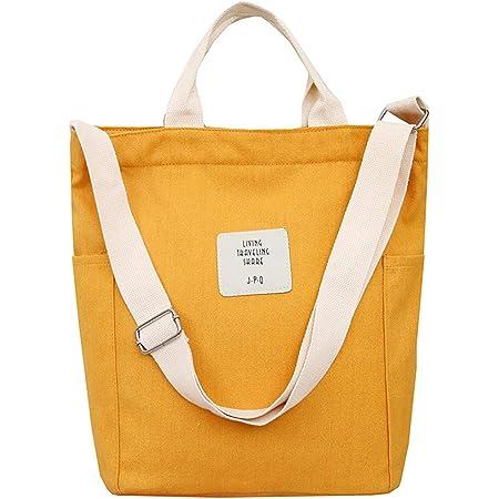 WANYIG Casual Handtasche Damen Chic Schultertasche Canvas Henkeltasche Schulrucksack Groß Umhängetasche Tasche Crossbody Bag Shopper