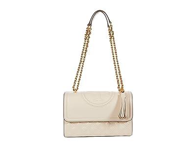 Tory Burch Fleming Convertible Shoulder Bag (New Cream) Handbags
