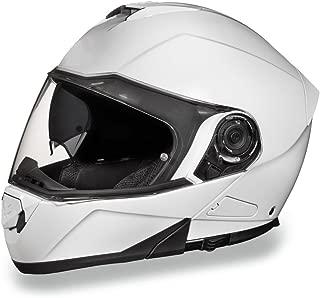 Daytona Helmets Motorcycle Modular Full Face Helmet Glide- Hi-Gloss White 100% DOT Approved