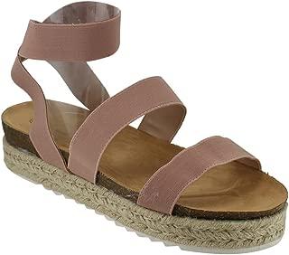 FQ83 Women's Elastic Strappy Lug Sole Platform Sandals