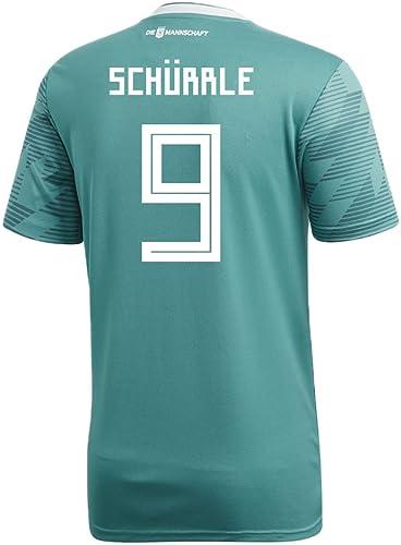 Adidas Schurrle   9Allemagne Away Soccer Stadium pour Homme S S Maillot Coupe du Monde de Football Russie 2018