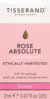 Tisserand Floral Rose Absolute Ethically Harvested Pure Essential Oil 2 ml,, Floral 2 milliliters