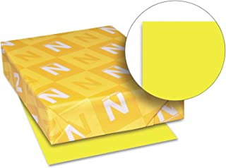 Neenah Paper 21011 Color Paper, 24lb, 8 1/2 x 11, Lift-Off Lemon, 500 Sheets