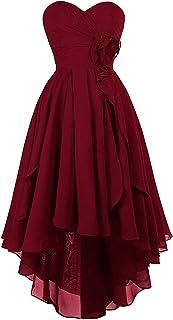 vipgowns, vestito da damigella d'onore senza spalline, abito da sera corto