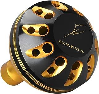ゴメクサス 35 38 41mm パワー リール ハンドル ノブ シマノ ダイワ (Shimano) Type A (Daiwa) Type S 用, セルテート フリームス ナスキー カルディア ストラディック 用 アルミ Gomexus ダイヤモンド柄