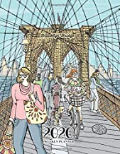Brooklyn Bridge 2020 Weekly Planner: 120 page dated weekly planner, letter size, with an ink illustration of the Brooklyn Bridge in New York City, on the cover. Glossy softcover, perfect bound.