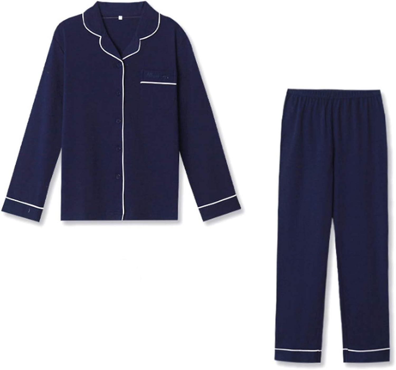 Top And Pants Soft Sleepwear Lounge Set Navy Blue M