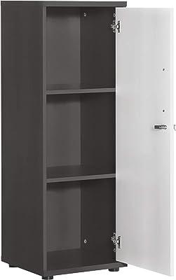 Armoire à Documents pour Meubles - Anthracite/Blanc Clair - Environ 39,3 x 34,5 x 110,9 cm.