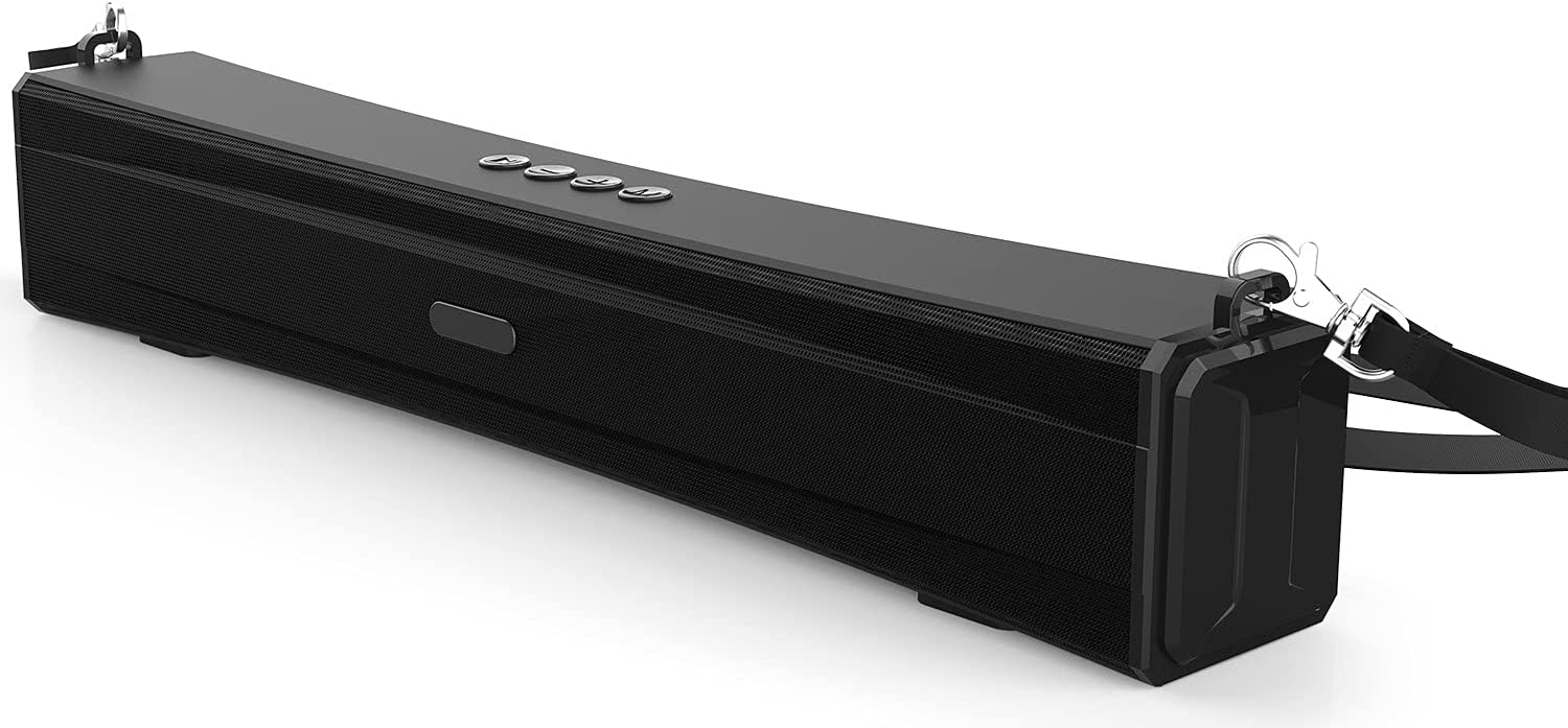 """Fatmoon 15.35"""" Wired & Wireless Bluetooth Portable Sound Bar $17.50 Coupon"""