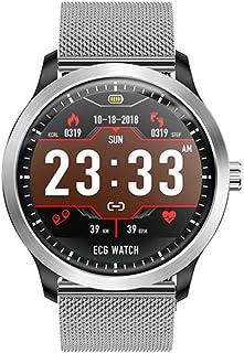 QCHNES Reloj Inteligente, Pulsera De Electrocardiograma A Prueba De Agua IP67 Reloj Inteligente Monitor De Ritmo Cardíaco Reloj Inteligente, Multi Modes Sports Tracker Fitness