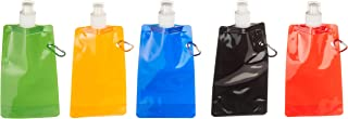 Funiverse Bulk 20 Pack 16 oz Collapsible Water Bottle Assortment - Party Favors and Travel Water Bottles