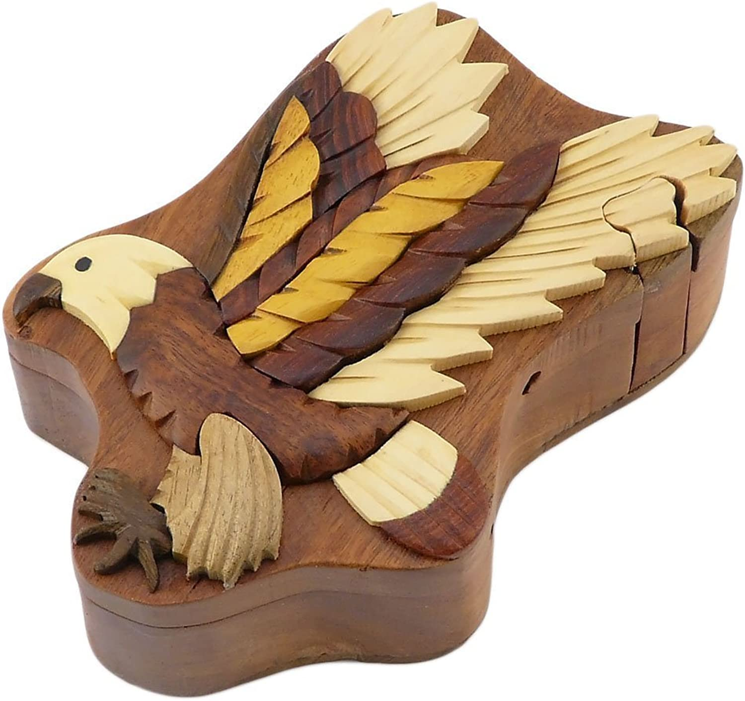 Flying Eagle Secret Handcrafted Wooden Puzzle Box