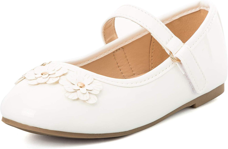 K KomForme Toddler Girls Flat New popularity Shoes Mary Ja Ballet Soft Non-Slip Great interest