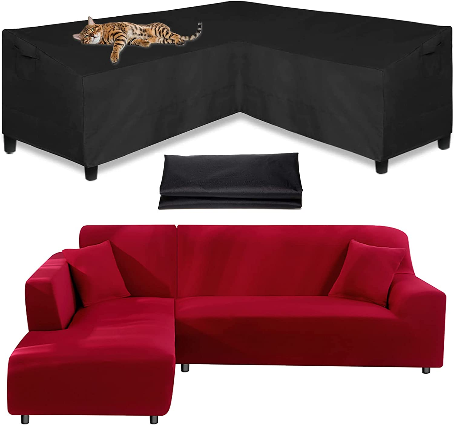 Garden Special Campaign Sofa Cover L Shape Patio Corner Product Furnitur Water-Resistant