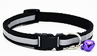 GVGs Shop 1 Pack Safety Reflective Dog Collar Small Puppy Pet Cat Plastic Nylon Buckle Soft Elastic Bow Bell Tag Flower Excellent Popular Extra Large Wide Breakaway Training Camo Kitten Collars