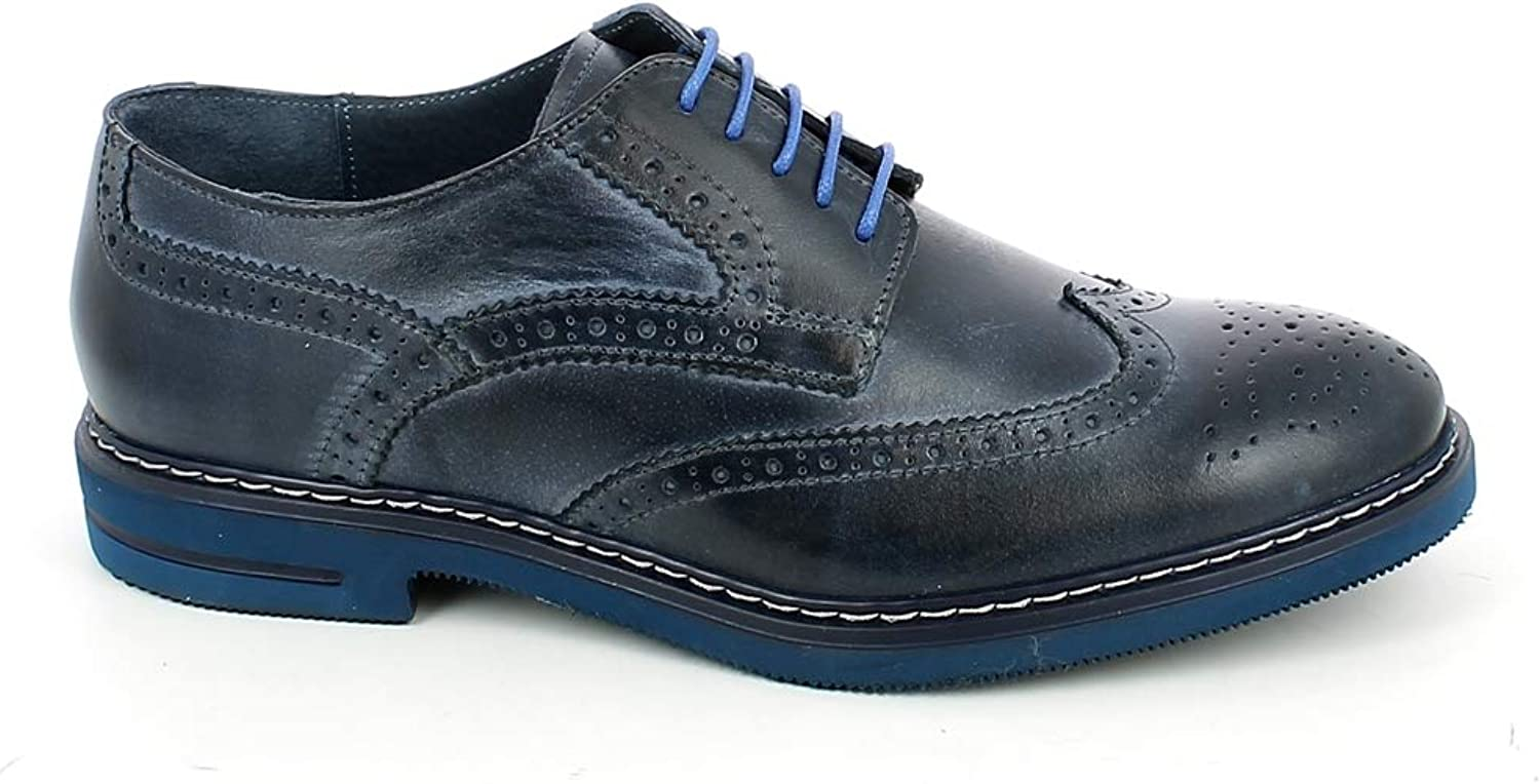 4d0c610ef36 bluee bluee Flats Lace-Up Men's BENSON NICOLA kwcm3b6f56268-New ...