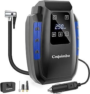 Coquimbo Compresores Aire Coche Portátiles, DC 12V Inflador Ruedas Coche, Digital Inflador Electrico Coche para Automóviles, Bicicletas, Motocicletas y Pelotas (Azul)