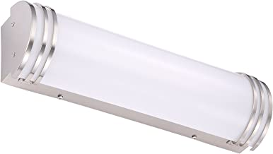 Cloudy Bay LED Bath Vanity Light 24-inch 4000K Cool White,Dimmable 24W,Brushed Nickel