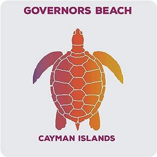 Governors Beach Cayman Islands Souvenir Acrylic Coaster 8-Pack Turtle Design