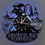 Studio Ghibli Anime Schallplatte Wanduhr LED Licht 12 'Vinyl Uhr | Mein Nachbar Totoro Wanduhr |...