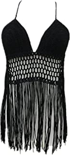 Best Fringe Bikini Halter Crop Top Handmade Crochet Swimsuit Summer Beachwear Review