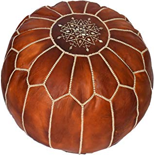 Pouf Moroccan Leather Pouf, Moroccan Pouf, Berber Pouf, Ottoman Pouf, Moroccan Ottoman Leather Pouf - UNSTUFED