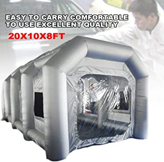 GDAE10 Portable Car Spray Booth Inflatable Paint Booth for Car Parking Tent Workstation DIY Paint Tent Removable Washable Filter Constant Air Flow - 20x10x8FT - US Stock