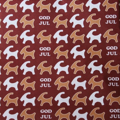 ScandinavianShoppe Christmas Wrapping Paper - Pepparkakor - Straw Goat