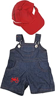 Farmer Outfit with Cap Outfit Teddy Bear Clothes Fits Most 14