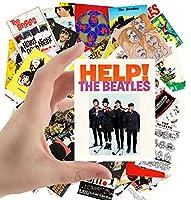 大型ステッカー (2.5インチ x 3.5インチ) ビートルズ ポスター 写真 ビンテージ 雑誌 カバー ロックミュージック クラシック 24枚