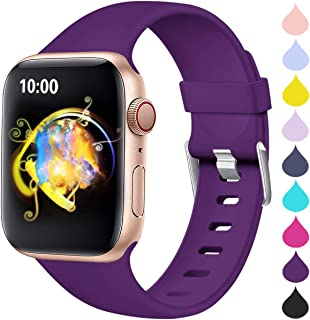 Sport Bands Compatible for Apple 4 Watch 40mm 44mm Series 4 Series 5, iWatch Bands 38mm 42mm Womens, Waterproof Wrist Band for iWatch, Apple Watch Series 3, Series 2/1 Man Small Large