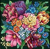 DIMENSIONS Needlepoint Kit, Floral Splendor, 14'' x 14''