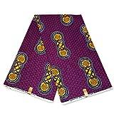 Julius Holland Afrikanischer Stoff, lila/gelbe Formen,
